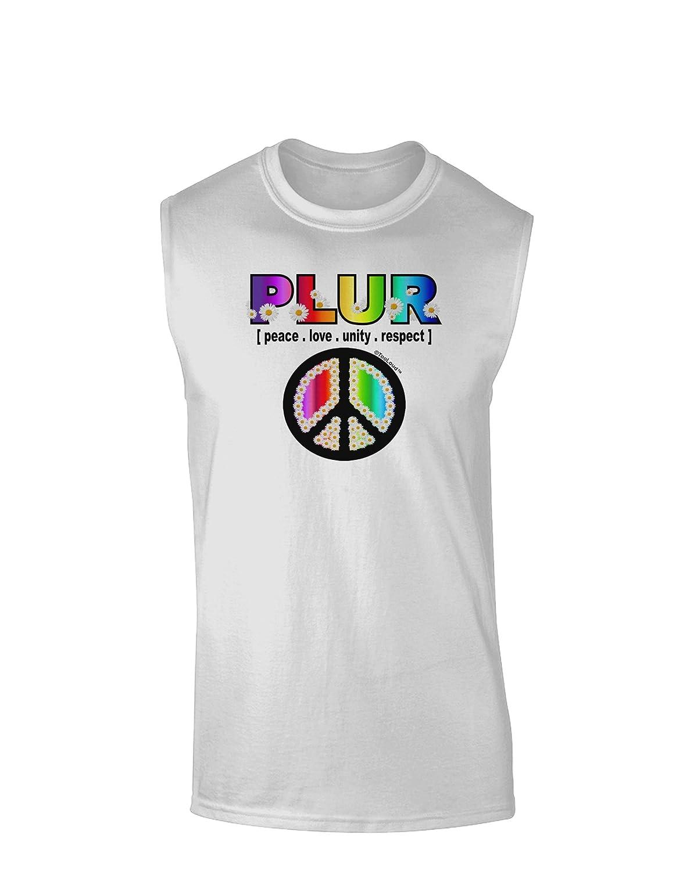 TooLoud Plur Rainbow Muscle Shirt