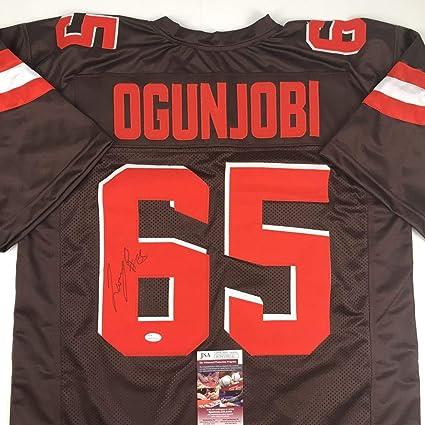 sale retailer 96a71 938e0 Autographed/Signed Larry Ogunjobi Cleveland Football Brown ...