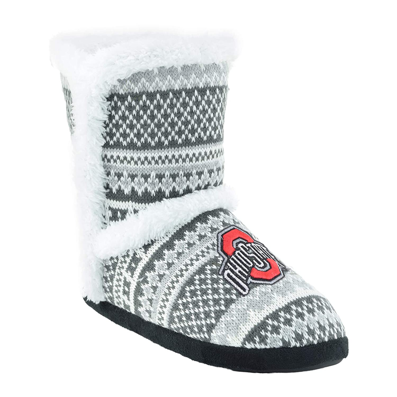 Ohio State Buckeyes Campus Footnotes High End Knit Sherpa-Lined Boots Pick Your Team -