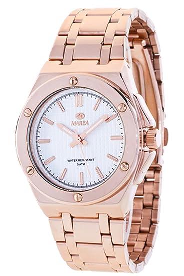 B41153/3 Reloj Marea Señora, caja y brazalete de acero rosé, sumergible 50 metros, garantía 2 años.: Amazon.es: Relojes
