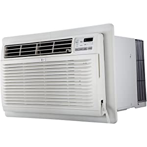 LG LT1037HNR 10000 230V Through-The-Wall with 11,200 BTU Supplemental Function Air Conditioner with Heat 10,000, White