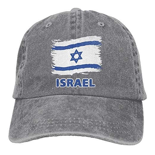 a7fdd5f0189e HNE&NQA Baseball Jeans Cap Israel Flag Men Women Baseball Cap Washed Denim  Cap at Amazon Men's Clothing store: