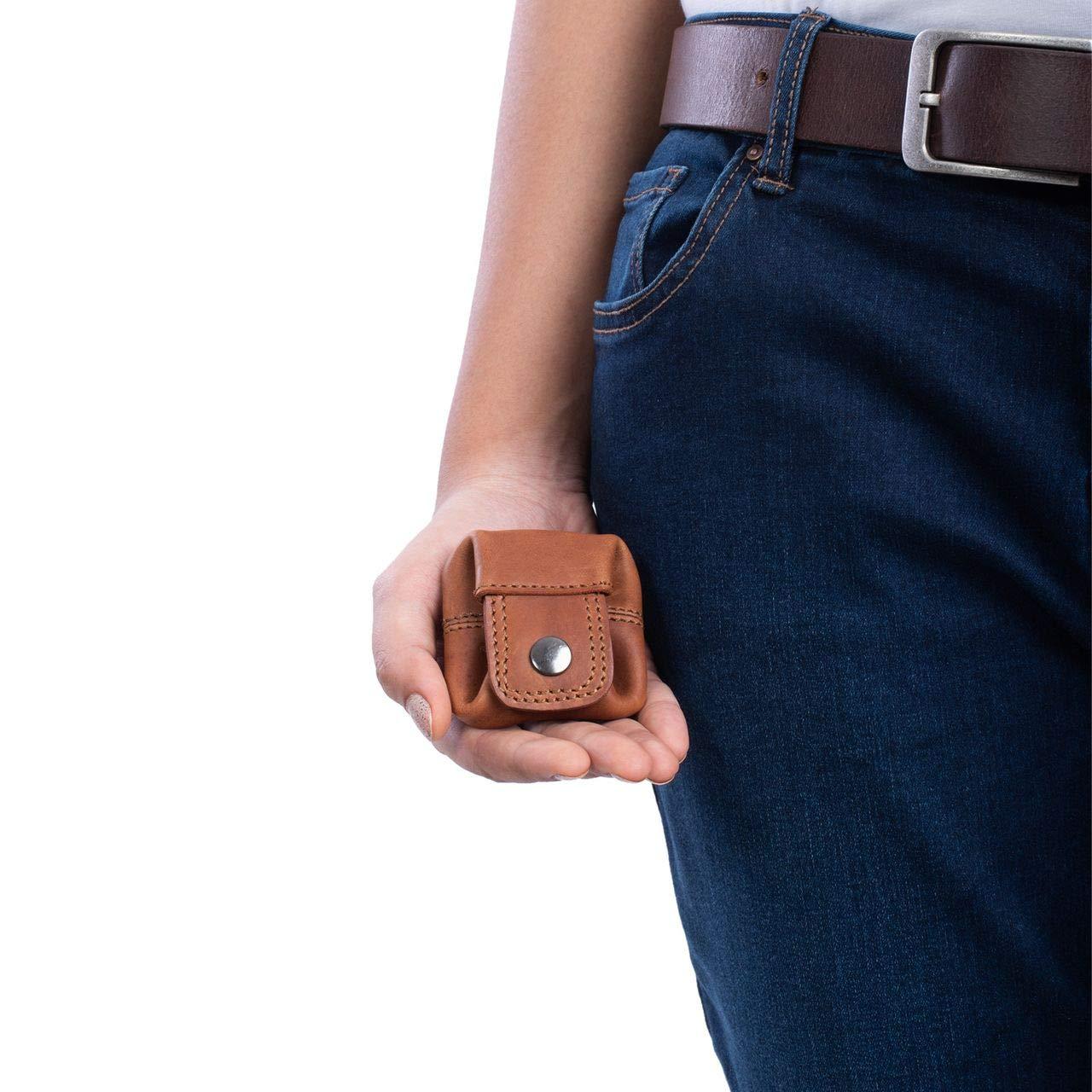 Colore:cognac marrone scuro STILORD Varys Portamonete Donna in Pelle Porta Spicci Uomo Vintage in Cuoio Mini Portafoglio Piccolo Borsellino Porta Monete
