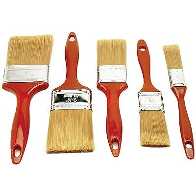 Performance Tool 20205 Polyester Paint Brush Set, 5 Piece: Automotive