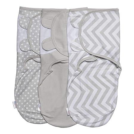 Baby Pucksack Wickel-Decke 220GSM / 1.0 TOG - 3er Pack Universal Verstellbare Schlafsack Decke für Säuglinge Babys Neugeboren