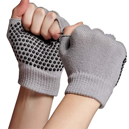 Kingnew Suave algodón Yoga Guantes, Antideslizante ...