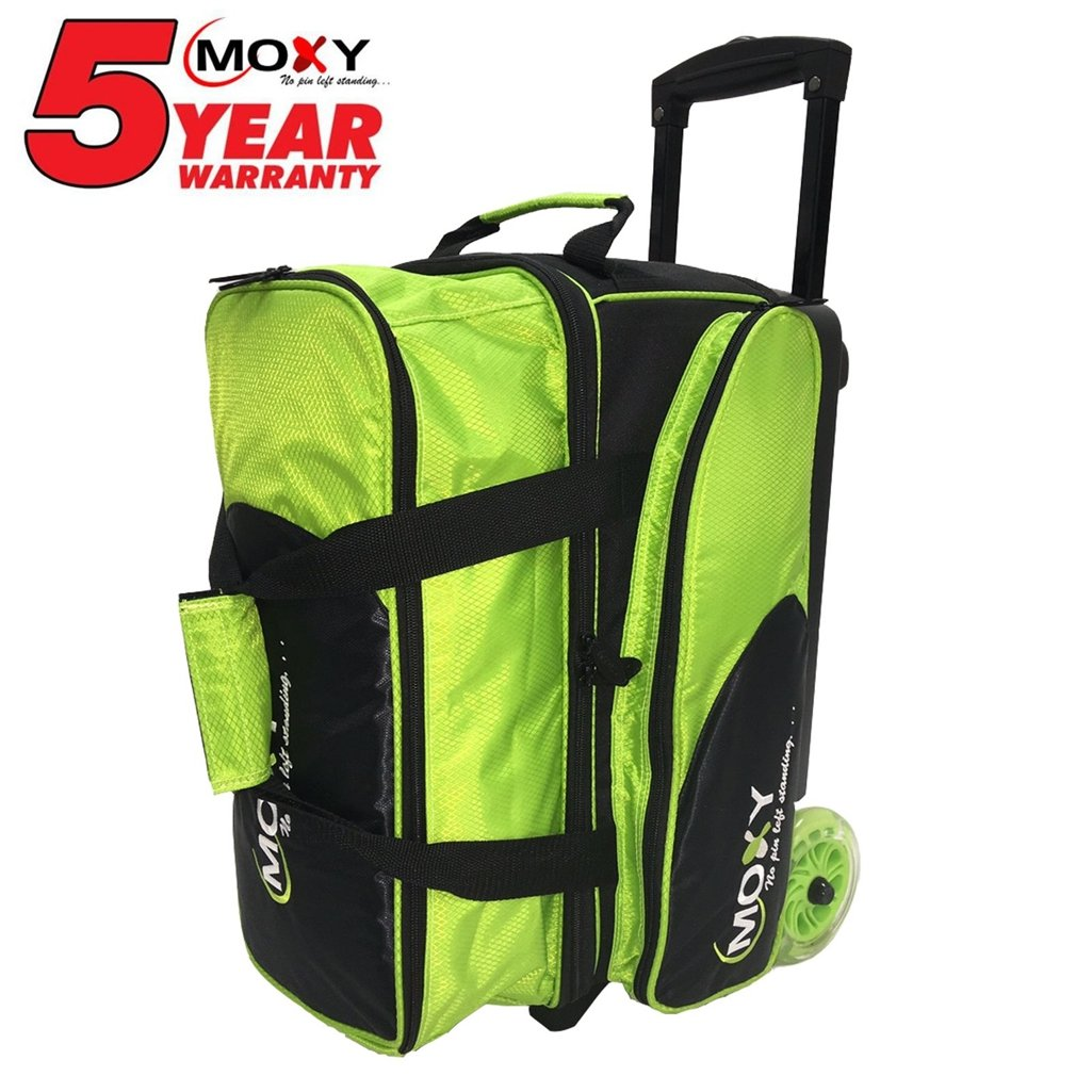 Moxy Bowling Products Blade Premium Double Roller Bowling Bag- Lime/Black