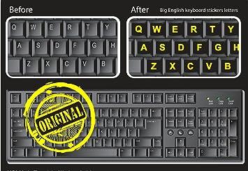 Ordenador teclado pegatinas DE LETRAS para PC – gran neón – trabajo fácilmente y el tipo