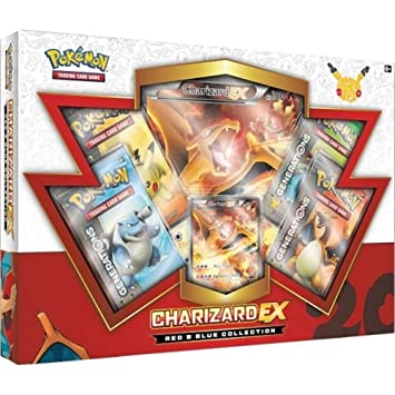 Pokemon Charizard EX Red & Blue Collection Box (englische Version)