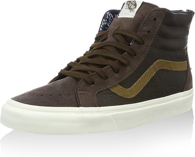 1c02323814 New Vans Sk8-Hi Zip CA Leather Nubuck Coffee Bean Brown Mens Size 6.5  Skateboarding Shoes (6.5)