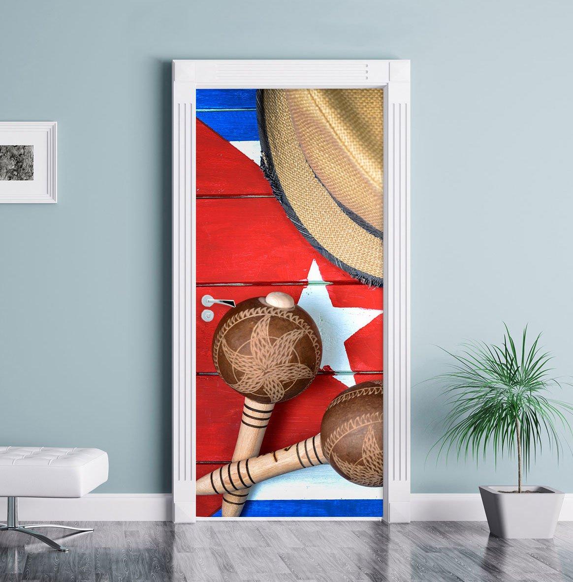 autoadesivi del Portello Telaio della Porta Cuba Still Life Come Murale Porta Decorazione Adesivi Porta Formato: 200x90cm