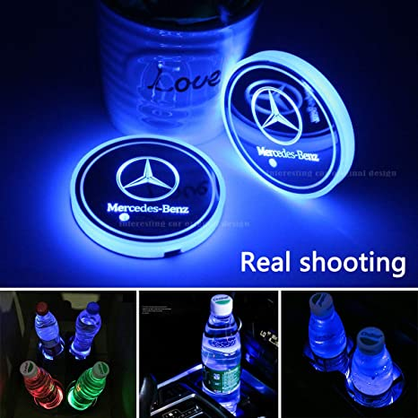 Amazon.com: 2 portavasos para automóvil con luces LED, 7 ...