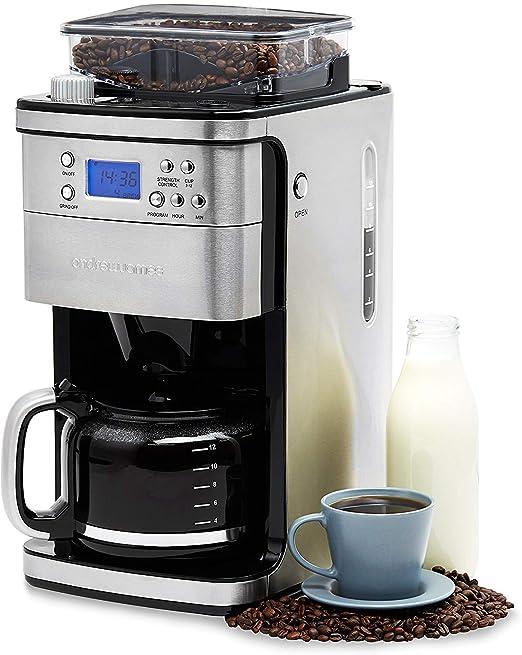 Cafetera de filtro Andrew James con molinillo de café integrado ...