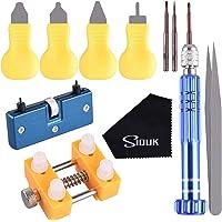 SIQUK Kit di attrezzi per la sostituzione della batteria dell'orologio per l'apri del dispositivo di rimozione della cassa posteriore e la riparazione dell'orologio