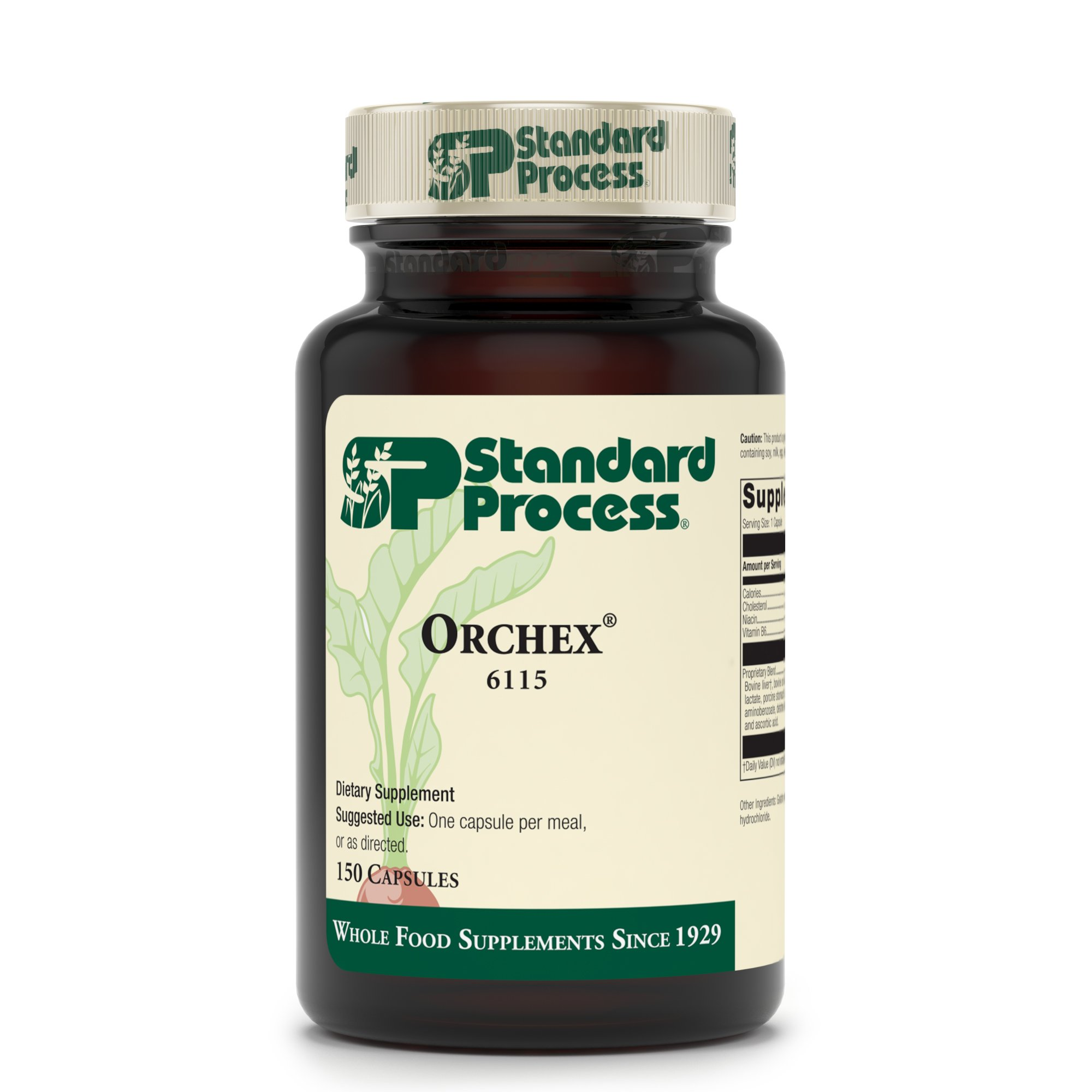 Standard Process - Orchex - Nervous System Balance Support Supplement, Supports Stress Response and Emotional Balance, Provides Niacin and Vitamin B6 - 150 Capsules