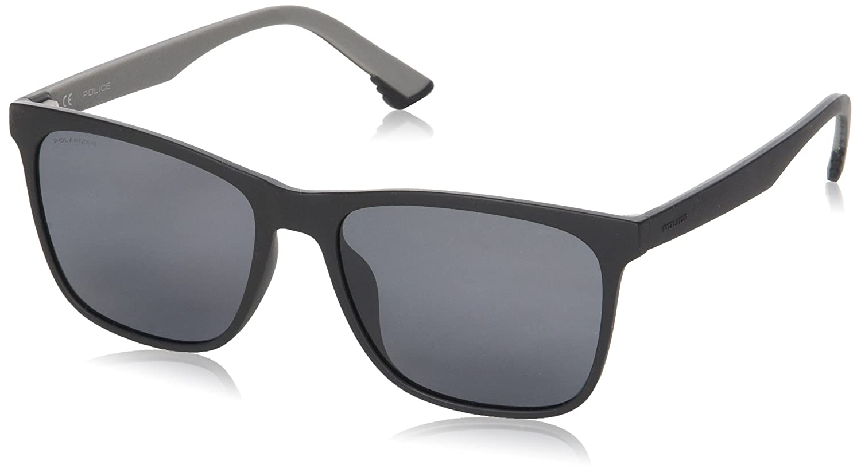 Police Sketch 1 Gafas de sol, Negro (Semi-matt Black), 55 para Hombre