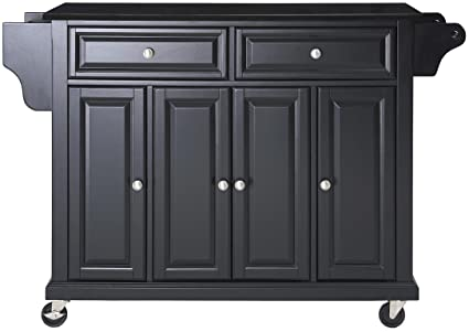 amazon com crosley furniture rolling kitchen island with solid