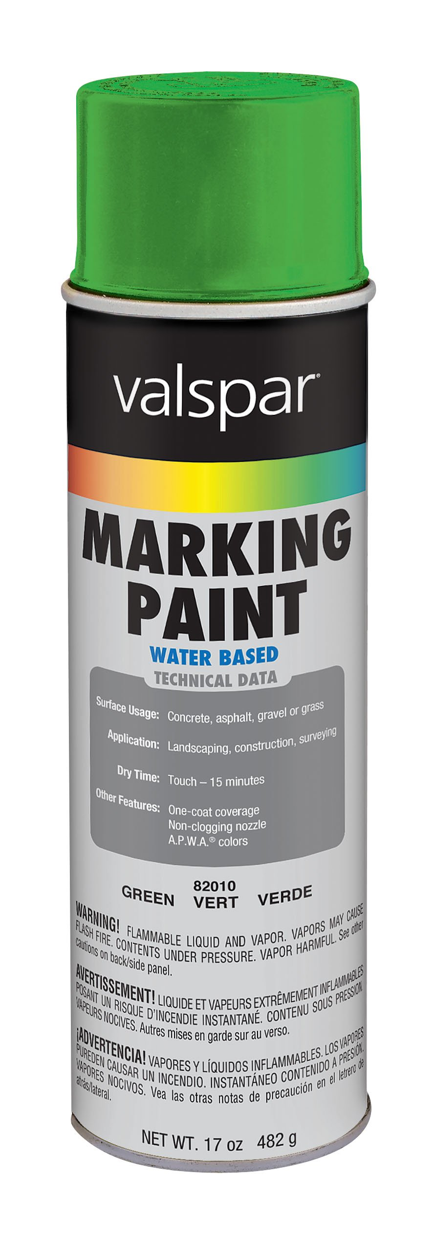Valspar 82010 APWA Green Marking Paint - 17 oz.