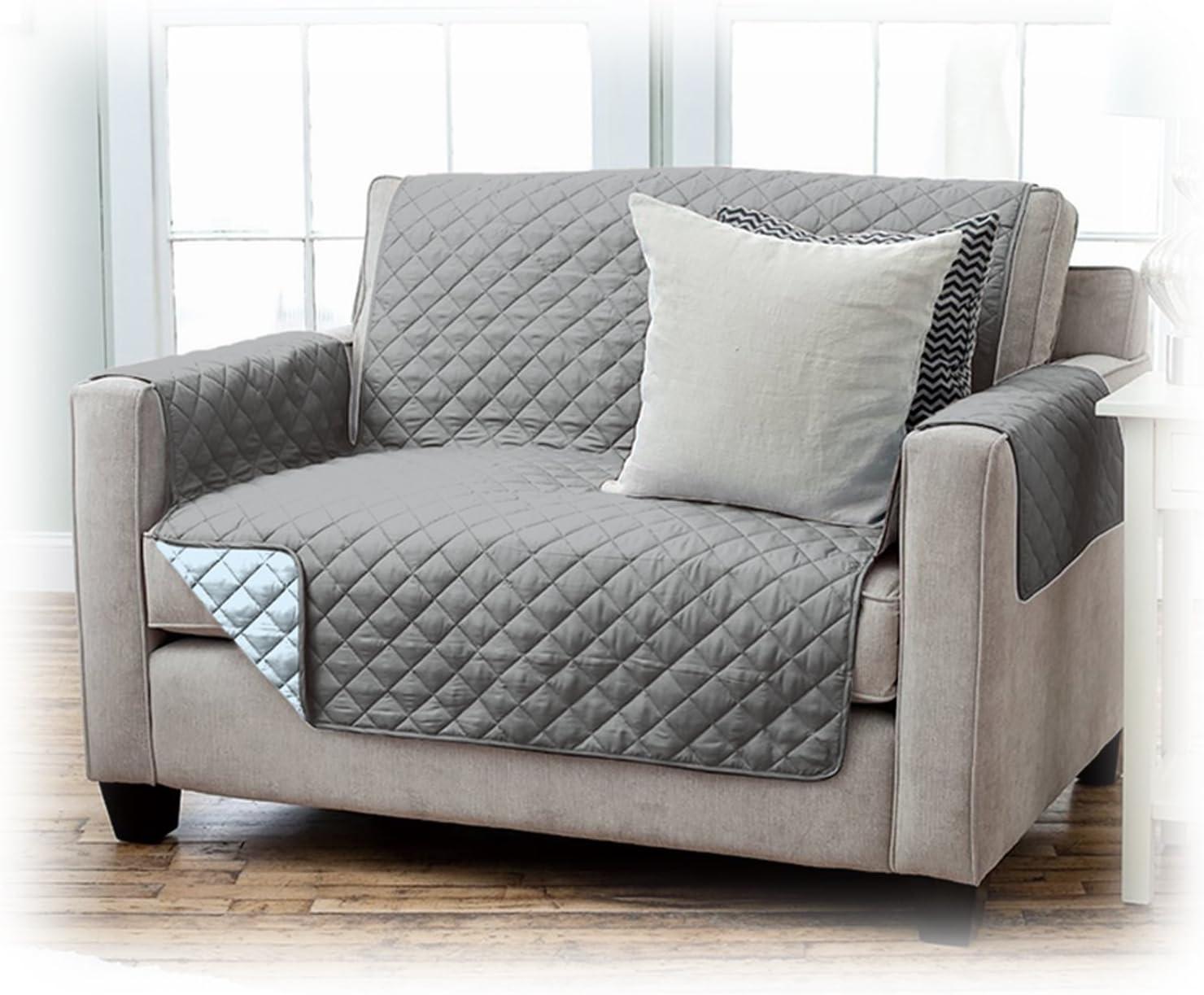 JEMIDI Housse de protection pour fauteuil de grande qualit/é marron//beige 2 Sitzer Polyester