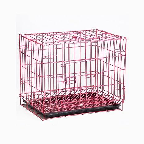 GSS-cage Jaula de Metal Plegable para Mascotas Perro, Jaula para Gatos, fácil