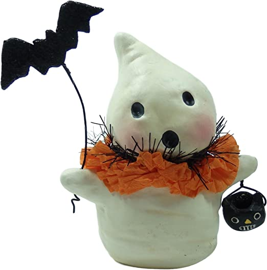 Bethany Lowe Halloween Ghostie with Bat Resin Ghost 3.5inch Figurine 2018