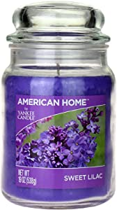 Yankee Candle 241469 Scented Fragrance Candles American Home Colllection Luxury Classic Large 19oz Glass Jar 538g[Sweet Lilac], Youth 11-13, Purple