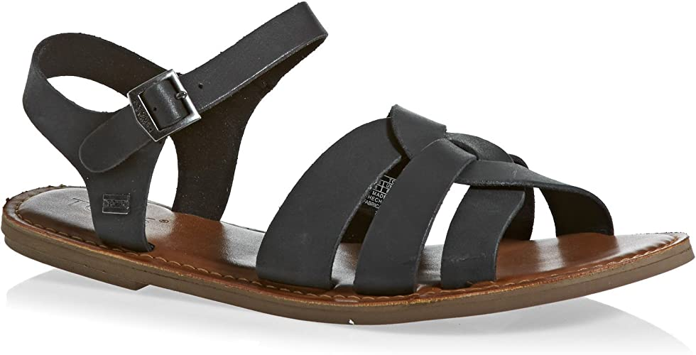 TOMS Womens Womens Zoe Leather Sandals