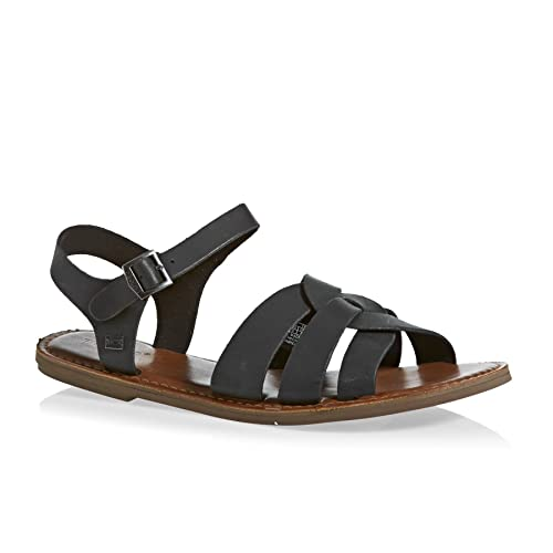 Buy TOMS Zoe Leather Sandals Black 6 at