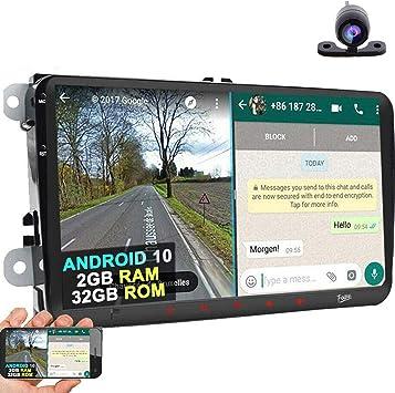 Android 10 Radio de coche de 9 pulgadas pantalla táctil capacitiva HD GPS navegación Bluetooth USB
