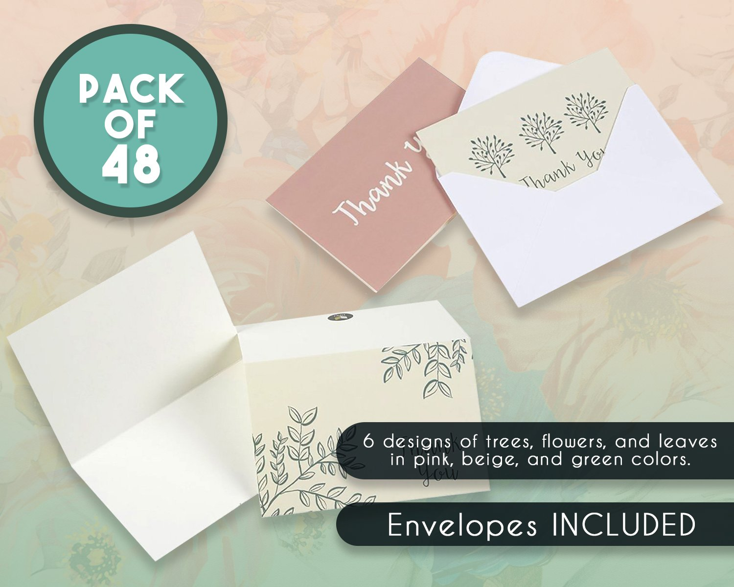 Cooloo Thank You Cards 50 Pack Bulk Thank You Card With Envelopes