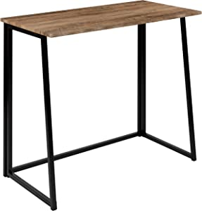 """Flash Furniture Small Rustic Natural Home Office Folding Computer Desk - 36"""""""