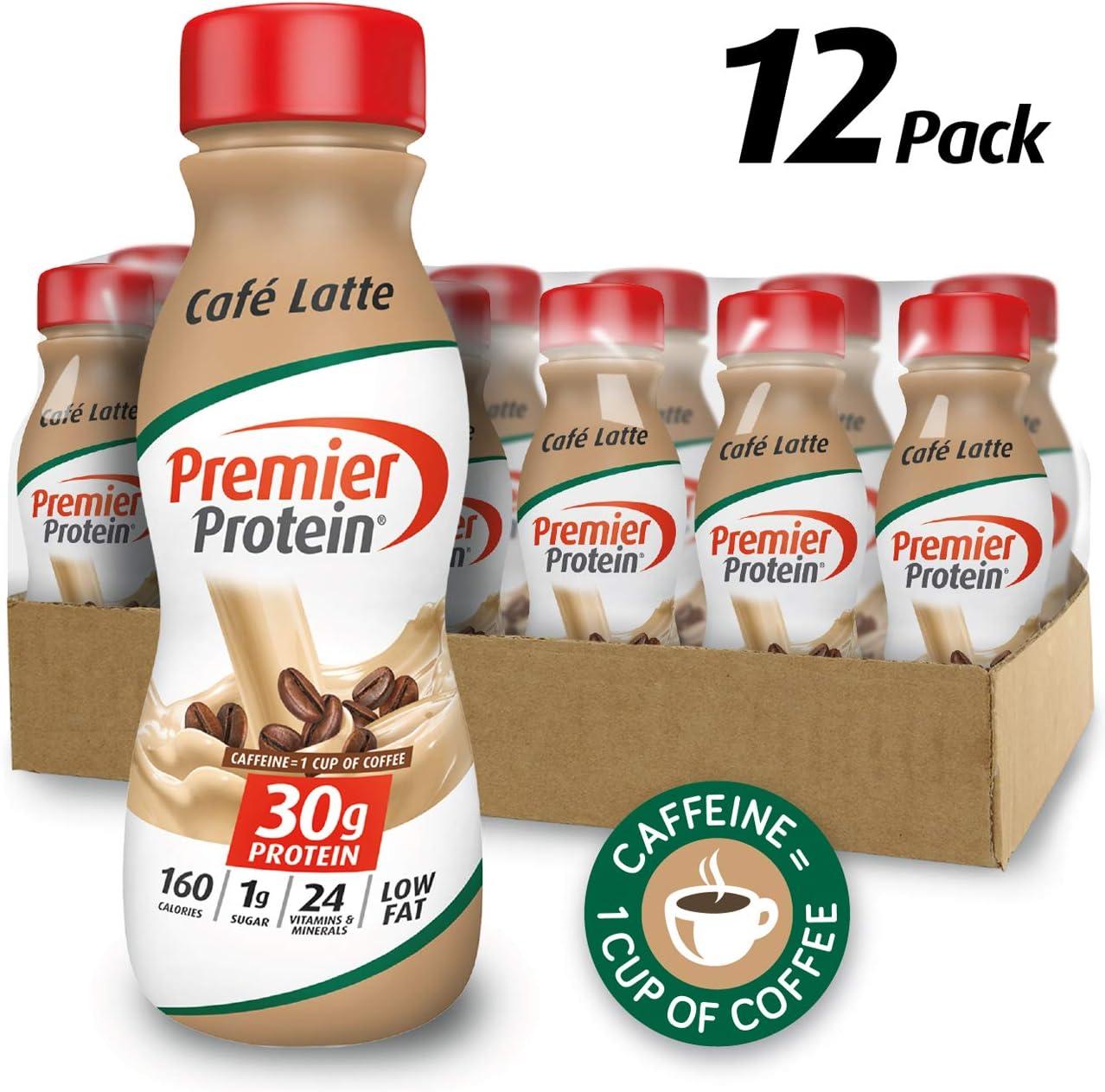 Premier Protein 30g Protein Shake, Cafe Latte, 11.5 Fl Oz, Pack of 12, Café Latte