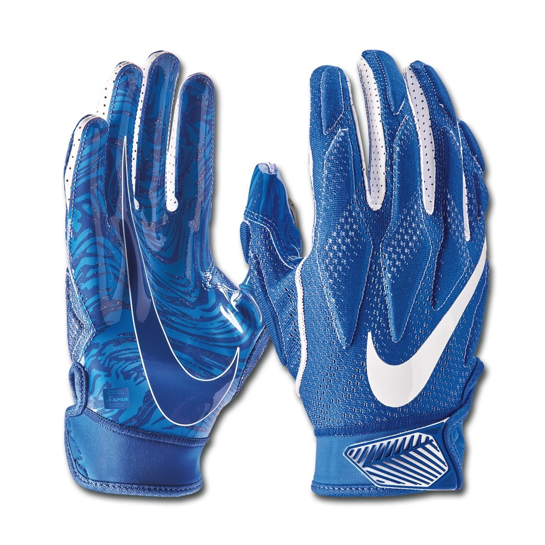 Nike Adult Superbad 4.5 Receiver Gloves (Royal/White, Small)