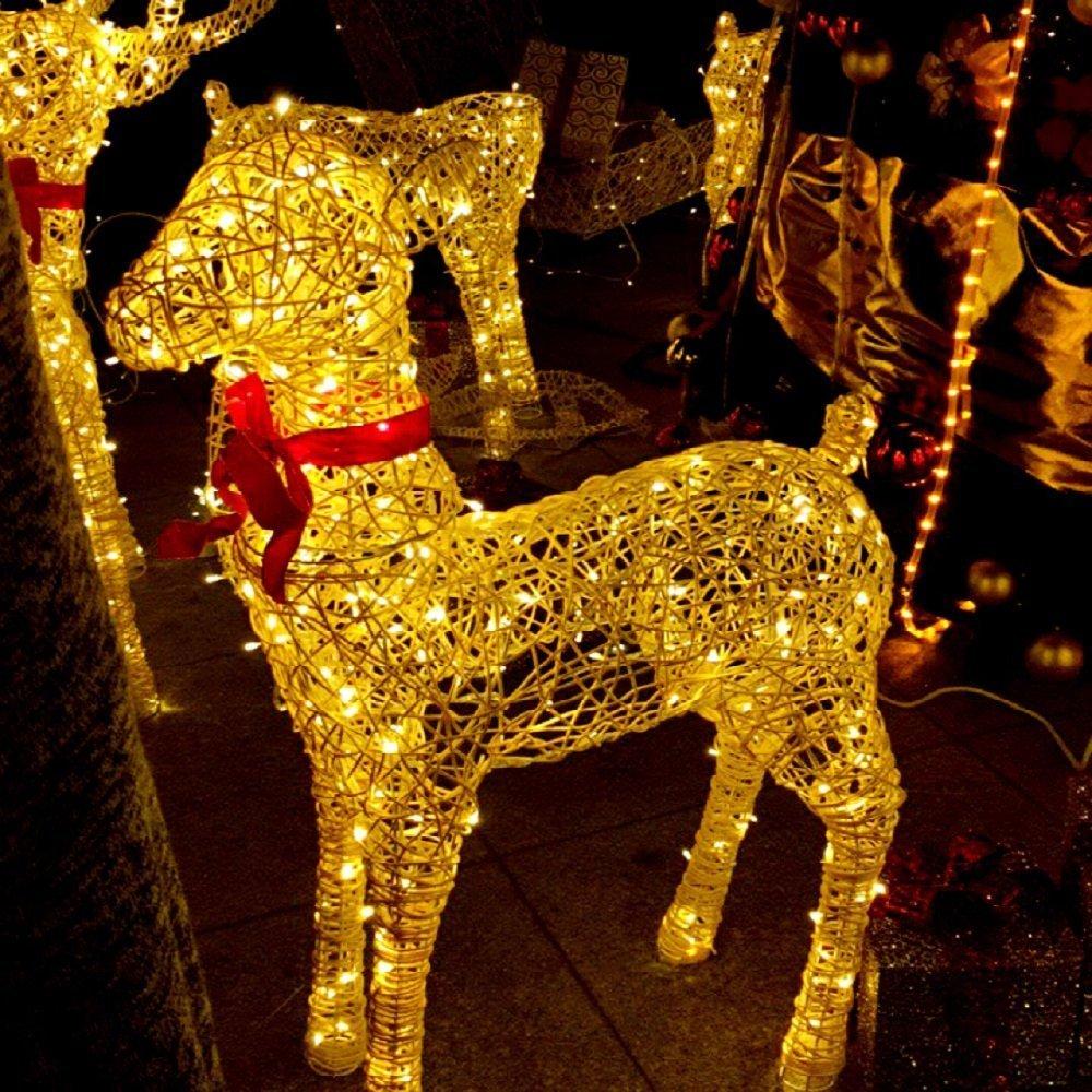 Rophie Guirlande Lumineuse Solaire Chaud 200 LED Blanc 22m