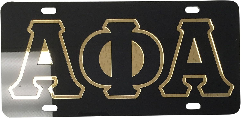 Alpha Phi Alpha Fraternity New Metal License Plate Frame