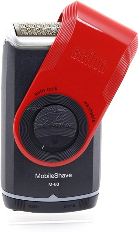Braun M-60r Máquina de afeitar de láminas Recortadora Negro, Rojo - Afeitadora (Máquina de afeitar de láminas, Negro, Rojo, Batería, 1 h): Amazon.es: Salud y cuidado personal
