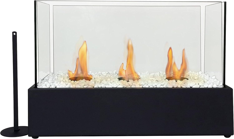 PURLINE NYMPHA PLUS Biochimenea de sobremesa con triple quemador ...