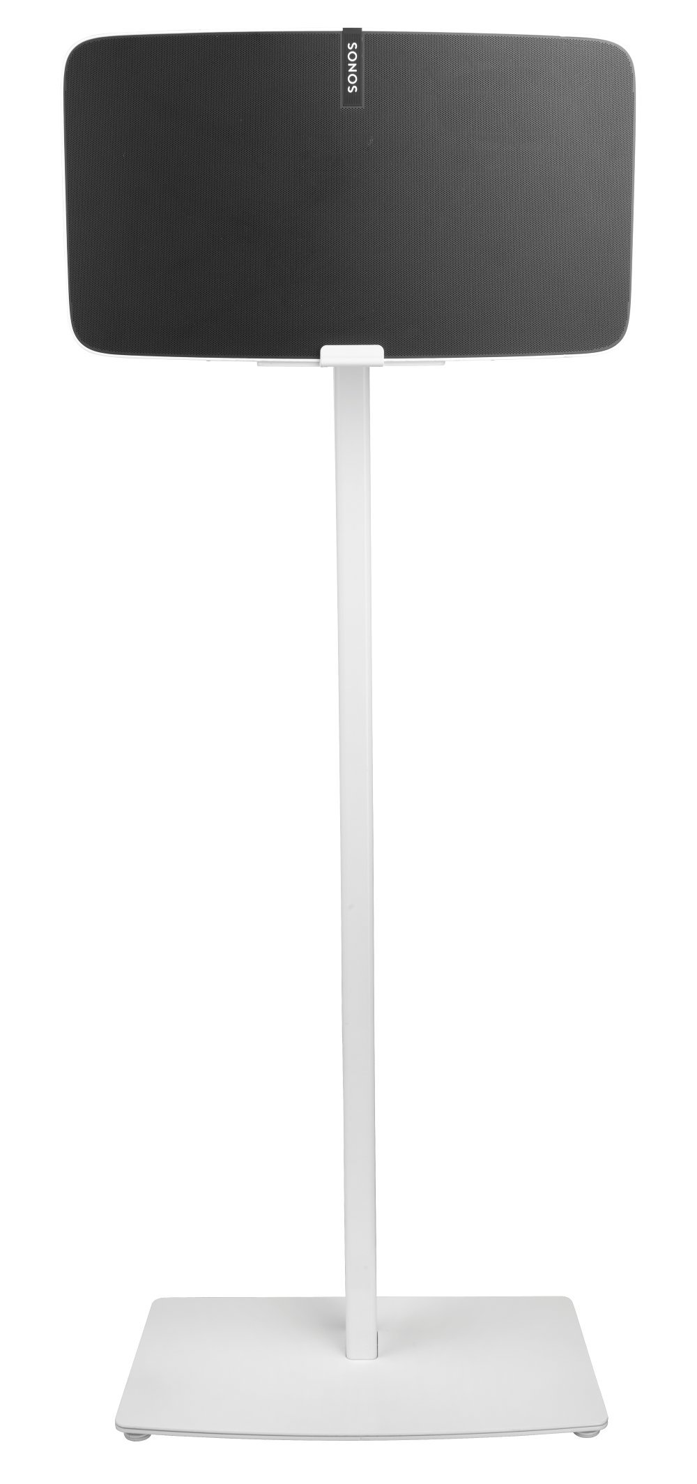 Cavus Floor Stand Suitable for Sonos Play:5 Speakers ( 2nd gen) ( Horizontal) (White, Play:5 Single) by Cavus