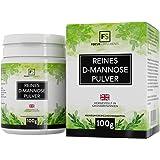 D-mannosio pura polvere al 100% [100 g] | Detossificante naturale per la vescica | SENZA ADDITIVI | Focus Supplements | Confezionato nel Regno Unito | Vegano, senza glutine, senza lattosio, senza OGM