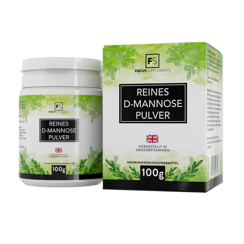 D Manosa Polvo 100% Puro de Focus Supplements | Tratamiento cistitis | Desintoxicación vesical natural | SIN ADITIVOS - Envasado en instalaciones con ...