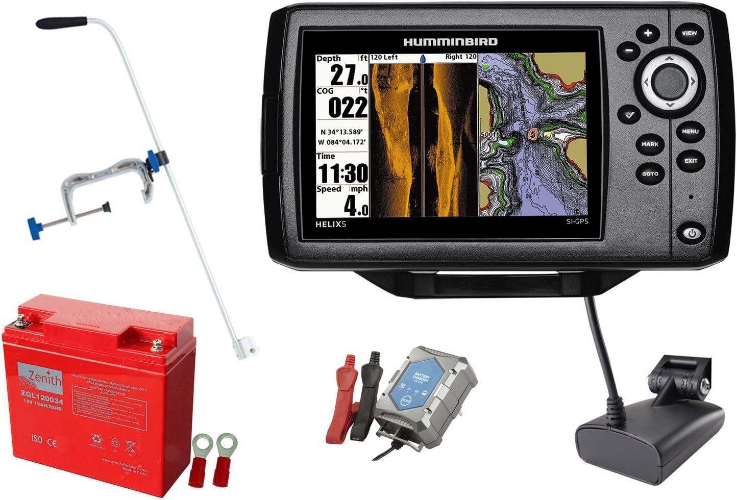 Hélice Humminbird sonar 5 SI GPS (83/200 + 455 kHz) portátil ...