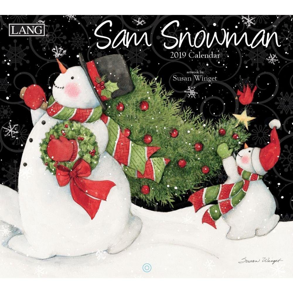 The LANG Companies Sam Snowman 2019 Wall Calendar (19991001939)
