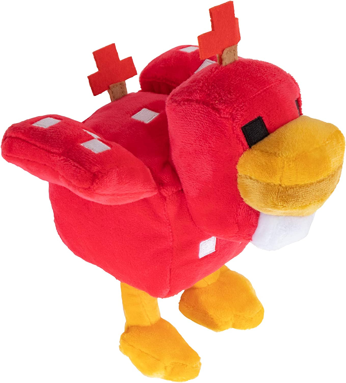 "JINX Minecraft Earth Happy Explorer Cluckshroom Chicken Plush Stuffed Toy,  Multi-Colored, 10"" Tall"