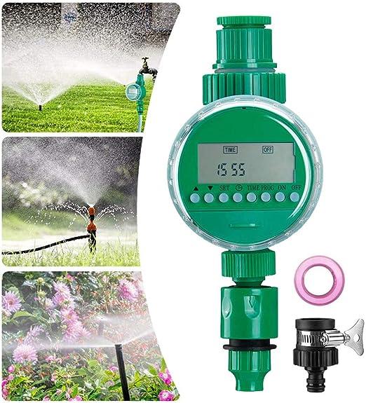 Queta Temporizador de Riego Automático, Programador de Riego Jardín con Digital Pantalla LCD, Reloj de Riego con Protectora Impermeable para Agricultura Invernadero Jardín Irrigación: Amazon.es: Jardín