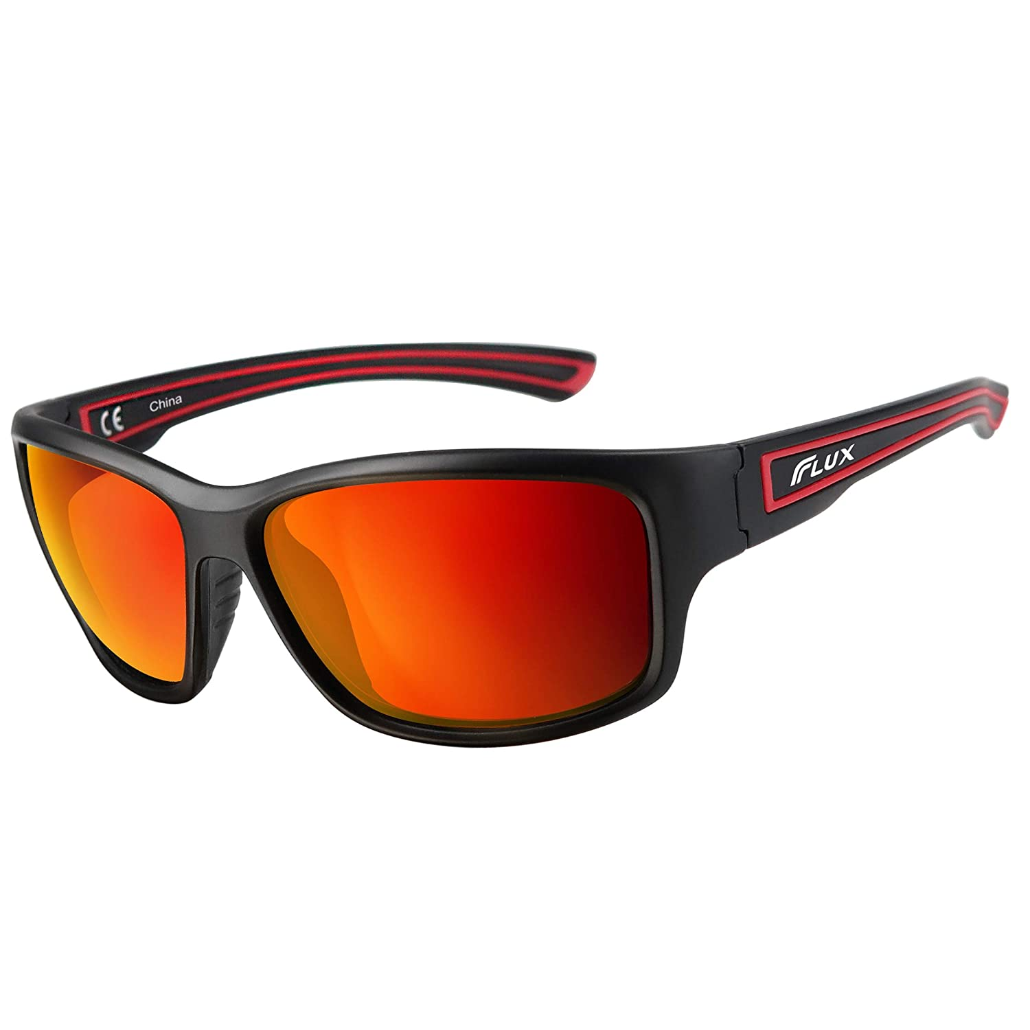 Flux Polarized Sports Sunglasses w/Anti-Slip Function and Light Frame PT005