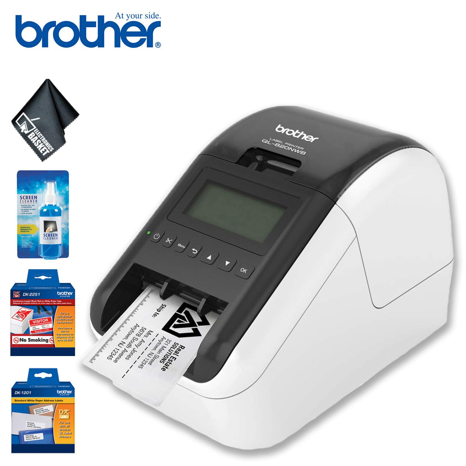 Brother QL-820NWB Professional Ultra Flexible Label Printer Standard Bundle by Brother (Image #1)