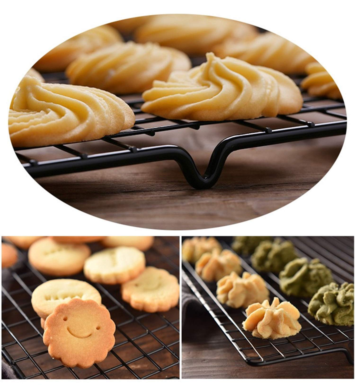 Mokpi Oven Safe Non-Stick Cooling Racks, Size 16''x10'',Thick Wire Baking Rack Heavy Duty Commercial Quality Rack (Set of 4) by Mokpi (Image #6)