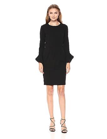 ed649c92 Donna Morgan Women's Long Ruffle Sleeve Sheath Dress at Amazon ...