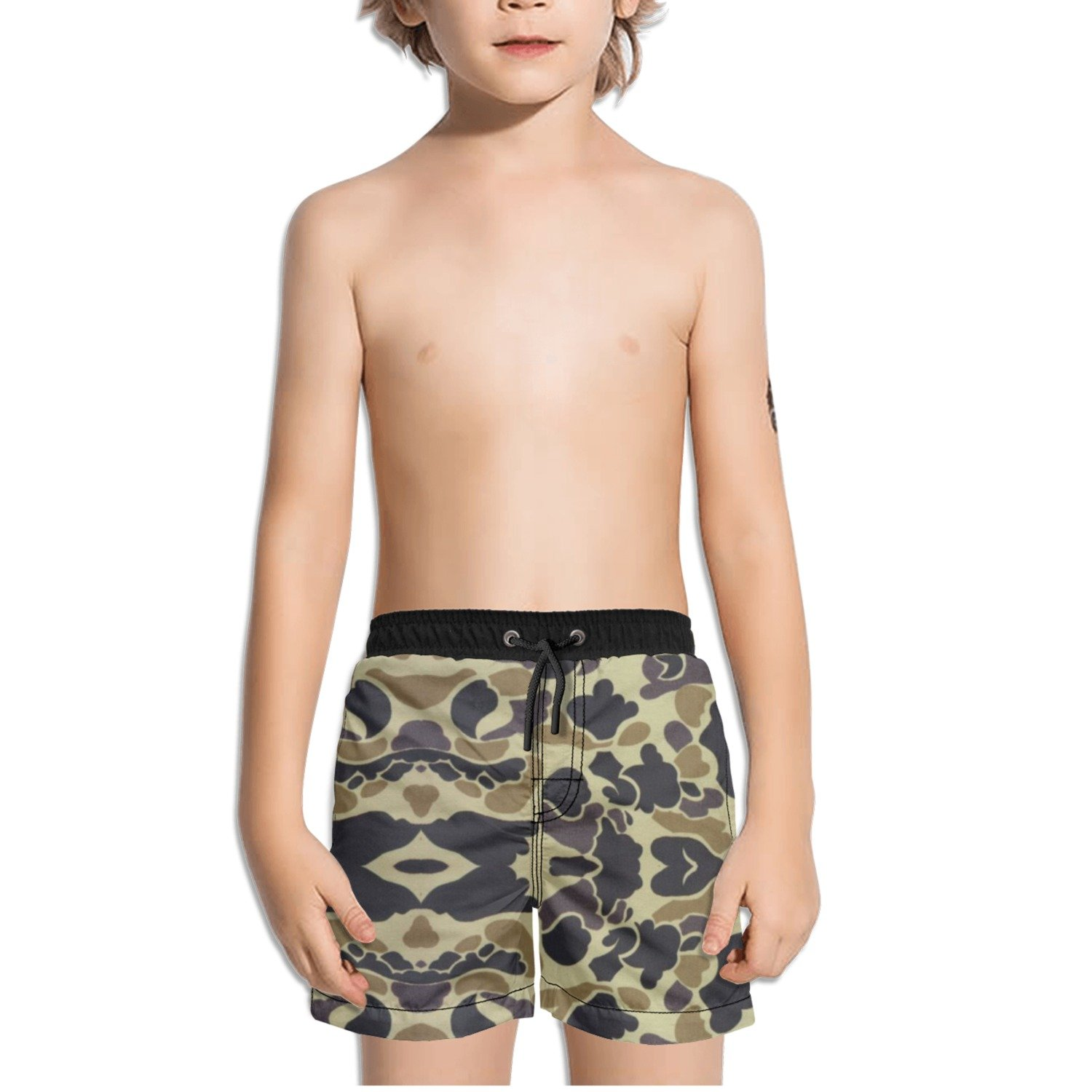 Ouxioaz Boys Swim Trunk Camo Artwork Beach Board Shorts