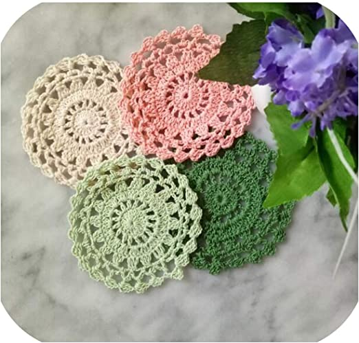 Amazon Com Yingy Store Lace Round Cotton Table Place Mat Dining